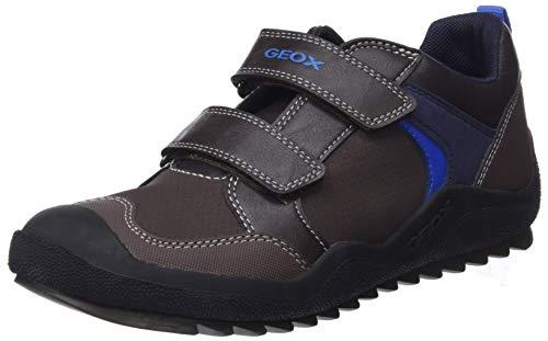 Geox Jungen J ARTACH Boy A Sneaker, Braun (Coffee/Royal C6483), 38 EU