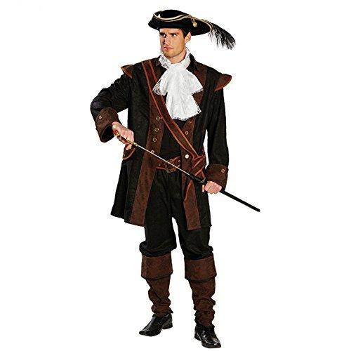 5-teiliges Piratenkostüm für Herren Pirat edel Jacke Hose Stulpen, Größe:50 (Stiefelstulpen Jack Sparrow)