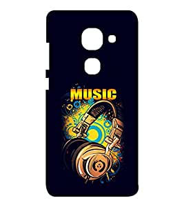 EPICCASE Beat that Music Mobile Back Case Cover For LeEco Le Max2 (Designer Case)