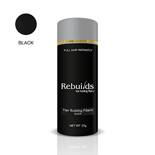 Rebuilds Hair Fibers, Black, 27 grams