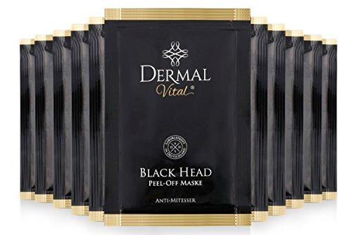 #Dermal Vital ° 10 Stück ° Peel Off Black Head Maske ° Peel off Maske ° Mitesser Gesichtsmaske ° Blackhead Remover Mask ° Black Mud Mask Mitesser ° Laborgeprüft ° Farbe: schwarz#