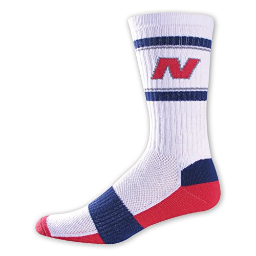 New Balance Varsity Crew Socken (1Paar), unisex Herren, weiß (Athletic Paar Crew 6 Socken)