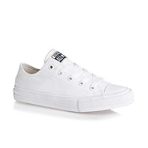 Converse Chuck Taylor All Star II Ox White Textile Junior Trainers White