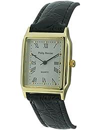 Philip Mercier SML10/A - Reloj analógico de cuarzo para mujer con correa de plástico, color negro