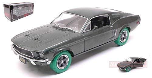 GREENLIGHT GREEN84041GR FORD MUSTANG GT 1967 STEVE MC QUEEN BULLIT WHEELS 1:24