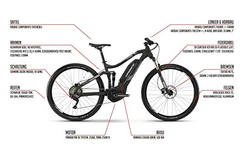 27,5 Zoll Haibike SDURO FullSeven 3.0 Bike Elektro Fahrrad Pedelec 500Wh Shimano 10 Gang Gr.M