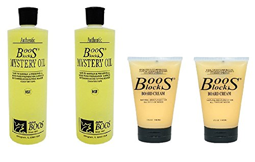 John Boos Board Cream and Oil Set of 4 by John Boos -