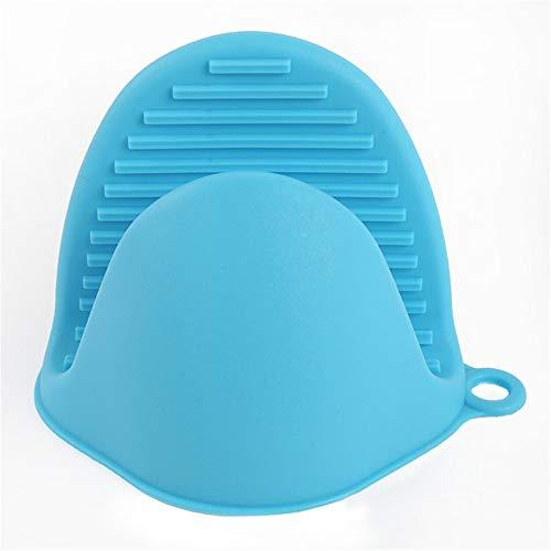 1 Stücke Anti-Rutsch-Silikon-Clip Isolierung Hitzebeständige Handschuhe Clips zum Kochen Waschen Küchentopf (Blue) -