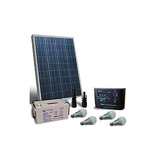 puntoenergia Italien-Kit Solar Beleuchtung LED 80W 12V für Innen Solar Batterie 60Ah-kil-80-12-b60-avf