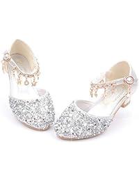 AMUSTER M/ädchen Prinzessin Kost/üm Ballerina Festliche M/ädchenschuhe Taufschuhe Schuhe Bowknot Kristall Bling Pailletten Prinzessin Schuhe