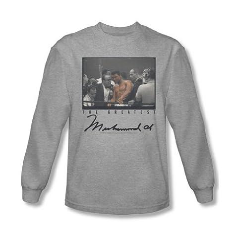 Muhammad Ali–Vintage pour Homme Manches longues pour homme photo en Heather - Gris - Medium