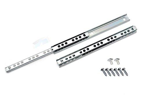 Lot de 2 Coulisse de tiroir rails télescopiques tiroir montage latéral L- 310mm