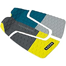Litio footpad Deck Grip de 3 piezas color azul/gris/amarillo surf Board onda