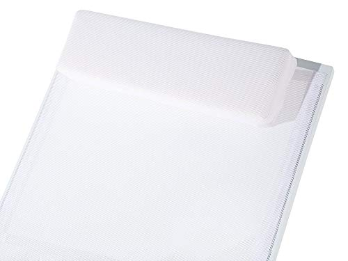 Beliani Gartenliege Aluminium Textilbespannung Weiss Catania II - 4