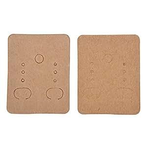 hooami 100pcs supports carton pour boucles d 39 oreilles en papier organisateur de bijoux 48mmx38mm. Black Bedroom Furniture Sets. Home Design Ideas