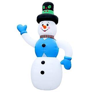 6 Meter grosser Schneemann Frosty Snowman große Weihnachtsdeko Weihnachtsfigur Aufsteller Aussendeko aufblasbar selbstaufblasend Airblown