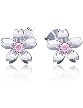 Retro Rosa Kristall Sakura Blume