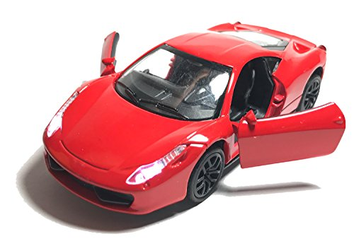 US1984 Imported Die-Cast Metal Car Pull Back with Openable Doors & Light and Music Great Gift for Boys and Girls Above 3 Years Old Best Gift