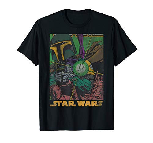 Star Wars Boba Fett Vintage Comic Book  T-Shirt