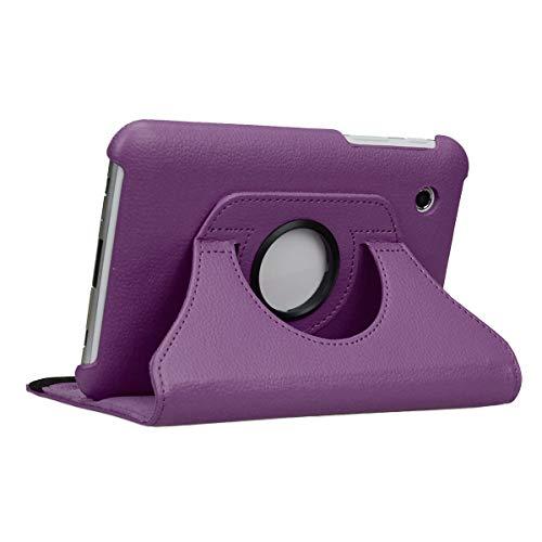 doupi Deluxe Schutzhülle für Samsung Galaxy Tab 2 (7 Zoll), Smart Case Sleep/Wake Funktion 360 Grad drehbar Schutz Hülle Ständer Cover Tasche, lila - Tab 2 Samsung Galaxy Lila Case