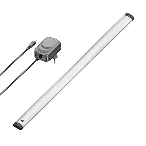 ledscom.de LED Unterbau-Leuchte Sabik mit Netzteil, flach, matt, 50cm, 430lm, weiß