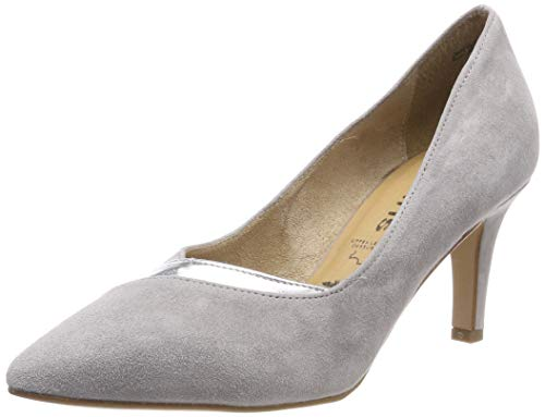 Tamaris Damen 1-1-22438-22 292 Pumps, Grau (Grey/Silver M. 292), 38 EU -
