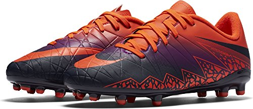 Nike Hypervenom Phelon Ii Fg, Chaussures de Football Mixte Enfant Multicolore (Total Crimson/obsidian-vivid Purple)