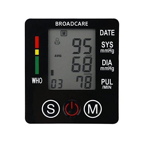 BROADCARE Digital Handgelenk-Blutdruckmessgerät USB Aufladen Pulsmessgeräte mit großem Display