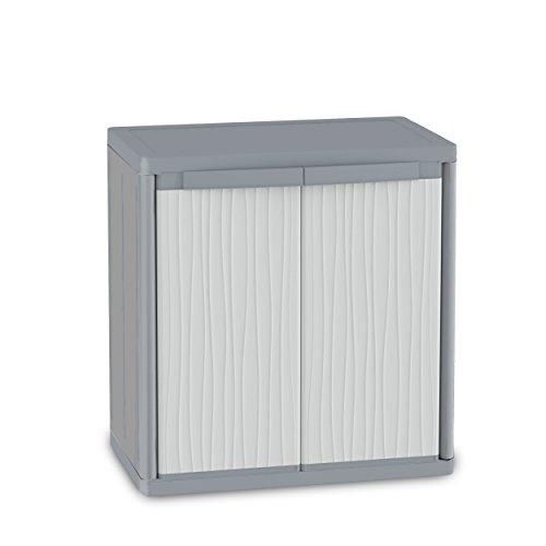 Terry Jumbo 900Wave Unterschrank aus Kunststoff, Farbe: Grau, XL-Größe: 89,7x 53,7x 94,5cm