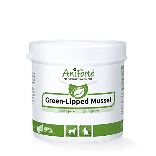 Powder Pack (AniForte Green Lipped Mussel Powder 100 g - various pack sizes - natural product for dogs and cats (100g))