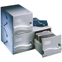 Esselte 67004 CD Aufbewahrungsbox CD-Aufbewahrungsbox für 25 CDs, hellgrau
