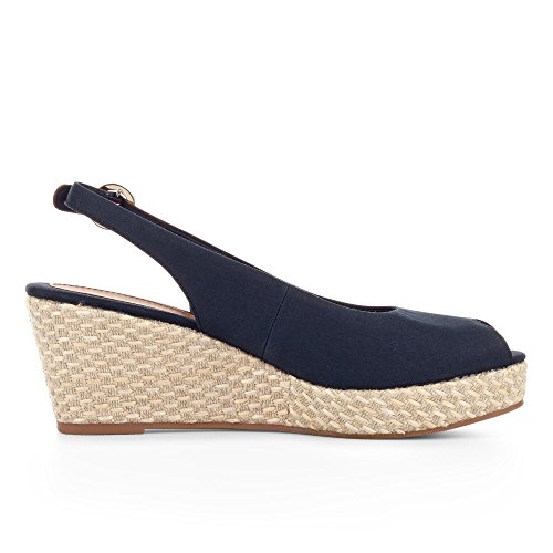 Tommy Hilfiger Damen Iconic Elba Basic Sling Back Espadrilles Blau (Midnight 403)