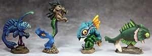 Aquatic Familiars 3 (4) by Reaper Miniatures
