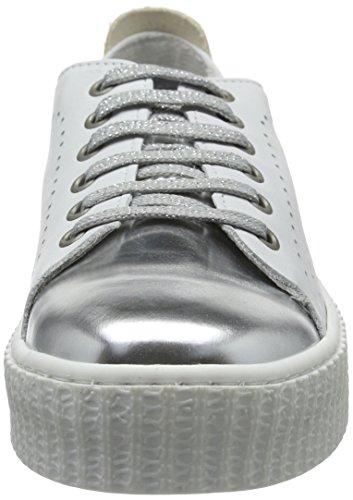 Laufsteg München FS161211, Baskets  femme Blanc - Weiß (White Silver)