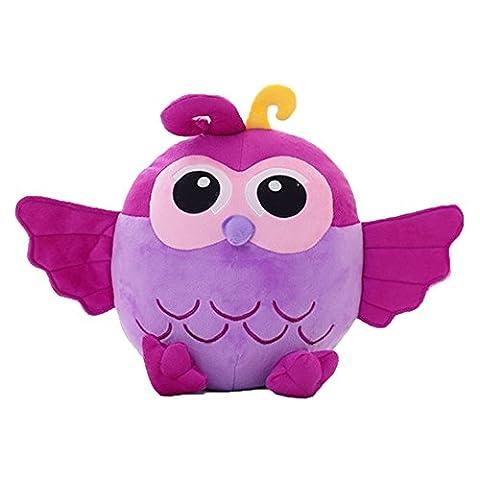 Lacheln Stuffed Owl Dolls Kids Cartoon Plush Toys,7 inches,Purple