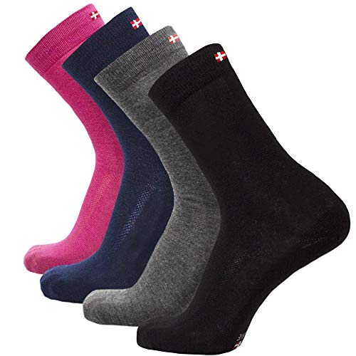 Danish endurance calze in lana merino (rosa – 3 paia, eu 35-38)