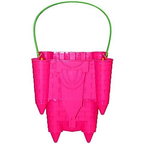 Solmar - Cubo de playa rosa con forma de molde de castillo