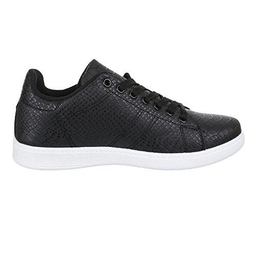 Sneakers Ital-design Basse Sneakers Da Donna Sneakers Basse Lacci Scarpe Casual Nere Zy002