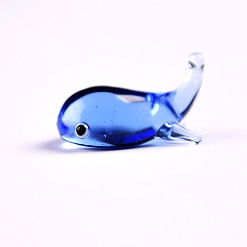 Glas Top Für Desk (Merssavo Mini Whale Shaped Kristallglas Dip Stifthalter Schreibtisch Craft Decor Collection-Blau)