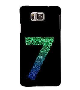 EPICCASE Seven Mobile Back Case Cover For Samsung Galaxy Alpha (Designer Case)