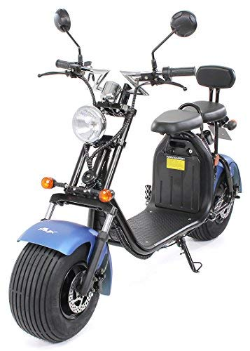 PEQUENENES Patinete Scooter EFLUX Harley 1500 W 60 V 20AH BATERIA Ion Litio (Azul Mate)