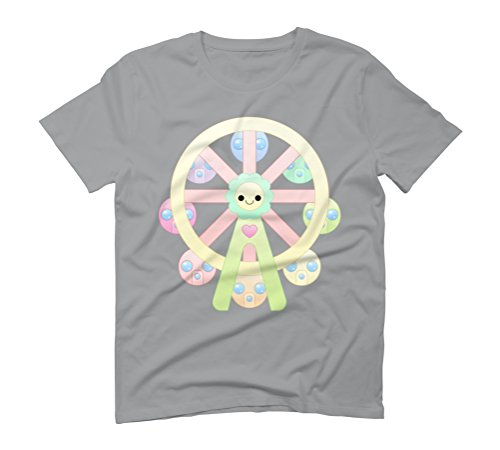 kawaii ferris wheel Men's Graphic T-Shirt - Design By Humans Opal