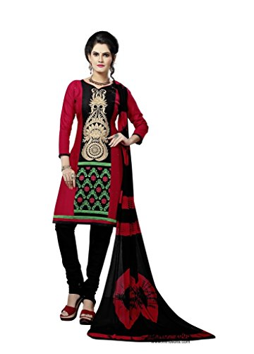 Readymade Minu Suits Cotton Stitched Dress Material New Red