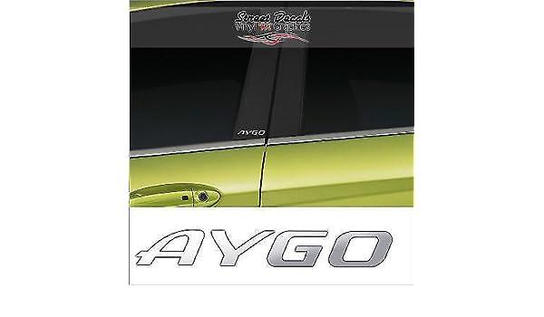 TOYOTA Chrome Vinyl Decals//stickers Car Door Pillar Car Windows Etc. X 2
