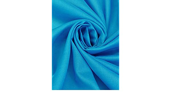100/% Cotton Muslin Voile Light Weight Sheer Fabric Lining Curtain Lining,Pure Muslin Cloth Muslin Fabric Material Voile 105cm // 42 Width Turquoise Blue 1 Metre