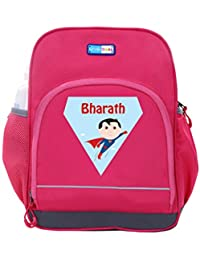 UniQBees Personalised School Bag With Name (Little Life Pre-School Backpack-Pink-Superman)