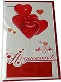 Glückwunschkarte Geldgeschenk - Von Herzen alles Gute - Herzenswunsch - Mehrfarbig - mit Briefumschlag - Geldkarte