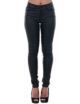 Vero Moda Vmseven NW S.Slim Smooth Coated Pants, Pantalones para Mujer