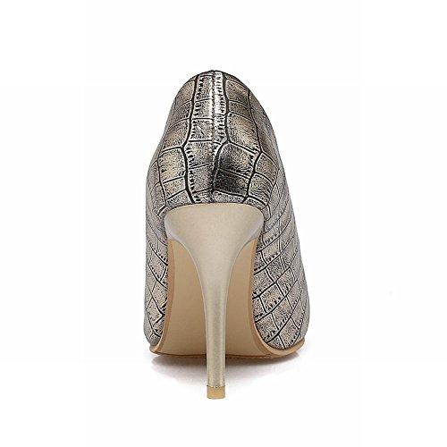 Mee Shoes Damen elegant Stiletto Geschlossen Pumps Gold