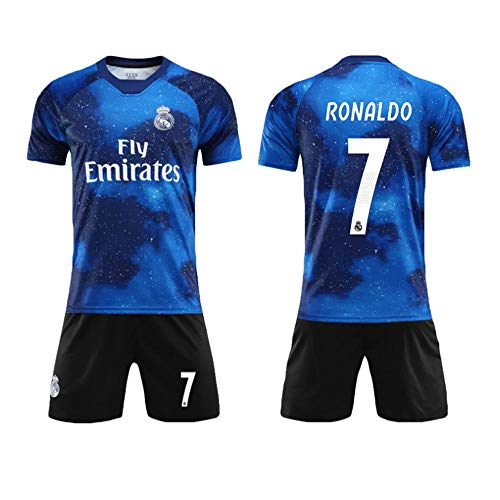 Real Madrid Fußball-t-shirts (SEYE1° Fußballanzug, Real Madrid-Trikot, Nr. 7 C Ronaldo Fußball-Sportbekleidung, Fußball-Junge T-Shirt)